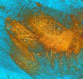Schilderend door olie op een canvas, illustratie Stock Afbeelding