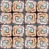 Schilderend etnisch abstract patroon Flardelementen stock afbeelding