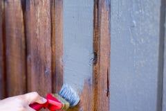 Schilderend Huis, Bewegend Penseel Royalty-vrije Stock Fotografie