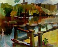 Schilderend landschap Royalty-vrije Stock Afbeeldingen