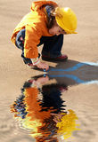 Schilderend meisje Stock Foto