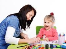 Schilderend meisje Royalty-vrije Stock Foto