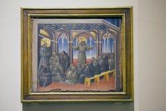 Schilderend op paneel, Siena, Toscanië, Italië Stock Foto's