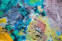 Schilderend Palet Stock Foto