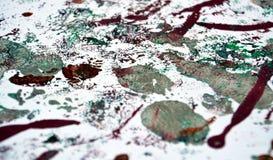 Schilderende acryl zilveren purpere abstracte achtergrond stock afbeelding