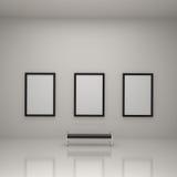Schilderende BinnenKunstgalerie Stock Afbeelding