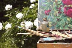 Schilderende bloemen Stock Fotografie