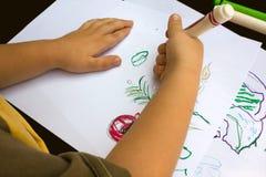 Schilderende handen Royalty-vrije Stock Fotografie