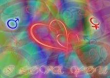 Schilderende harten Royalty-vrije Stock Afbeeldingen