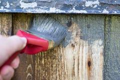 Schilderende Huisvoorgevel, Buitenkant Royalty-vrije Stock Foto