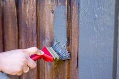 Schilderende Huisvoorgevel, Buitenkant Stock Foto