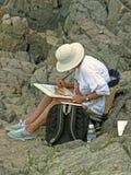 Schilderende Kunstenaar Stock Afbeeldingen