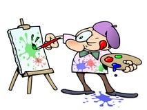 Schilderende kunstenaar stock illustratie