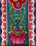 Schilderende lotusbloem royalty-vrije stock afbeelding