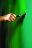 Schilderende muren Stock Foto's