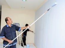 Schilderende muur Royalty-vrije Stock Foto's
