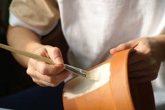 Schilderende potten royalty-vrije stock afbeelding