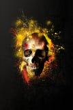 Schilderende schedel Royalty-vrije Stock Foto's
