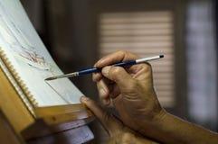 Schilderende Waterverf Royalty-vrije Stock Afbeeldingen