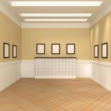 Schilderijen binnen Zaal stock illustratie