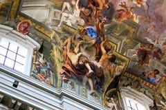 Schilderijen in Chiesa Di Sant'Ignazio, Rome, Italië Royalty-vrije Stock Afbeeldingen