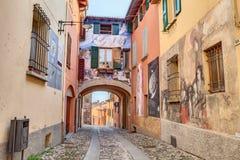 Schilderijen op de muren in Dozza, Italië Stock Fotografie