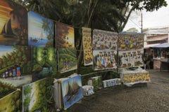 Schilderijen voor verkoop in Embu das Artes royalty-vrije stock fotografie