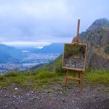 Schildersezel in de bergen Royalty-vrije Stock Foto