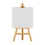 Schildersezeltribune voor schilderijen in tentoonstelling van document wordt geïsoleerd dat illust Stock Foto's
