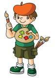 Schilderskunstenaar Kid stock illustratie