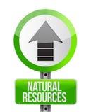 Schilderung ein Zeichen mit natürliche Ressourcen Lizenzfreie Stockfotos