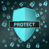 Schildikone protect vektor abbildung