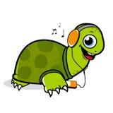 Schildkröte, die Musik hört vektor abbildung