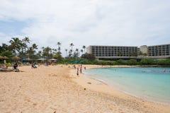 Schildkröten-Bucht-Erholungsort Oahu Hawaii Stockfotos