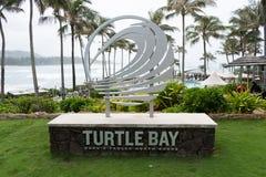 Schildkröten-Bucht-Erholungsort Oahu Hawaii Stockbilder