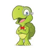 Schildpad geek met gevouwen handen vector illustratie