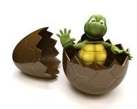 Schildpad met een esterei vector illustratie