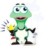 Schildpad met trofee vector illustratie