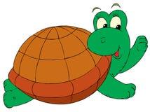 Schildpad (vector klem-kunst) Royalty-vrije Stock Afbeeldingen