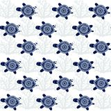 Schildpadden Naadloos Vectorpatroon vector illustratie