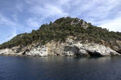 Schildpadeiland in Griekenland stock afbeeldingen