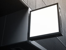 Schildshop Spott herauf quadratische Formanzeigenperspektive Lizenzfreie Stockfotos