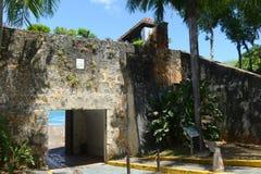 Schildwachtdoos in Castillo San Felipe del Morro, San Juan Royalty-vrije Stock Foto's