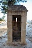 Schildwachtdoos in het kasteel van santabarbara Stock Foto