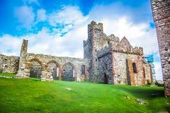 Schilkasteel op St Patrick ` s Eiland in Schil, het Eiland Man royalty-vrije stock foto's