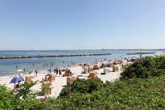 Schilksee-Strand, der den Kiel-Fjord umgibt lizenzfreie stockfotografie