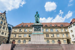 The Schiller memorial in Stuttgart, Germany Stock Photography