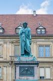 The Schiller memorial in Stuttgart, Germany Stock Image