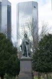 Schiller monument Frankfurt Royalty Free Stock Photos