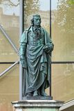 Schiller monument in Salzburg, Austria Stock Images